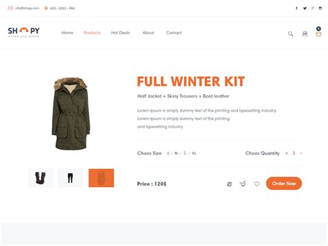Shopy Free Ecommerce Landing Page Template Psddd Co Landing Page Ecommerce Template