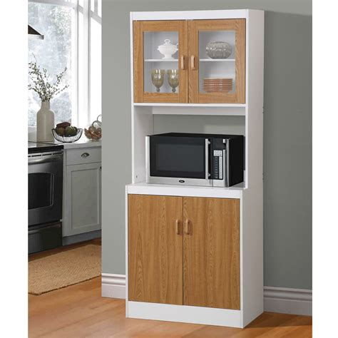 utility cabinets for kitchen new brown tall kitchen microwave stand utility cabinet