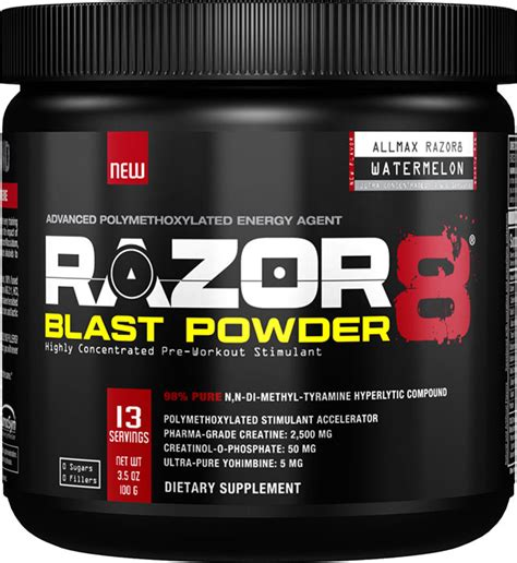 razor 8 creatine allmax nutrition razor8 blast powder watermelon 100 gm