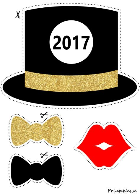 new year photo booth props printable photo booth props new years 2017