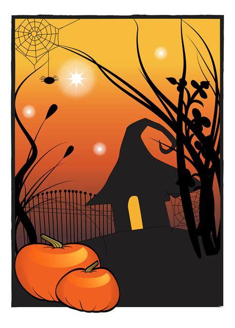 halloween house poster vector art graphics freevectorcom