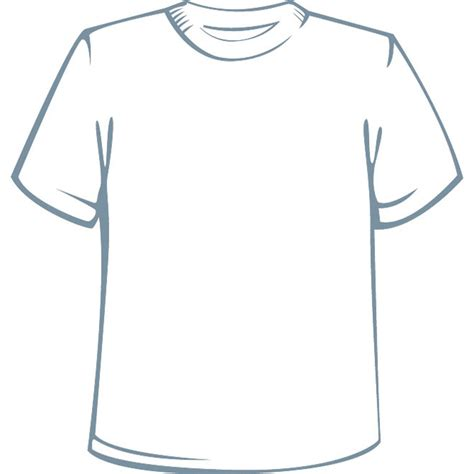 T Shirt Template Vector by Shirt Sleeve At Vectorportal