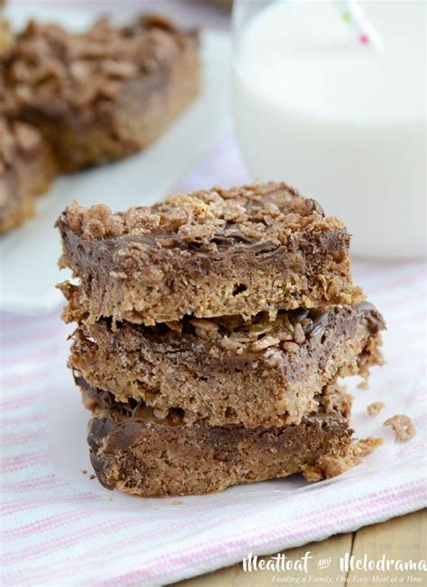 no bake peanut butter bars with chocolate on top no bake chocolate peanut butter cereal bars meatloaf and melodrama