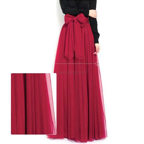 summer chiffon dress layer maxi skirt