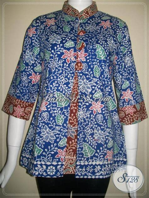 Kemeja Batik 422 Batik Kantor jual busana batik untuk wanita kantor trendy dan terkini