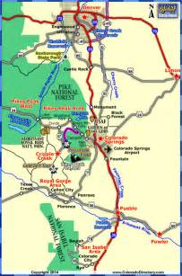 colorado springs map tourist attractions travel map