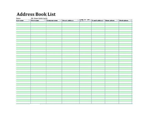 book template in 40 printable editable address book templates 101 free