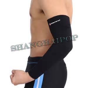 begie black arm sleeve support pad brace elbow wrap