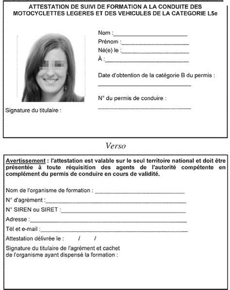 Locations de vehicule, voitures: Attestation formation 125 pdf