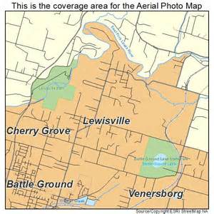 aerial photography map of lewisville wa washington