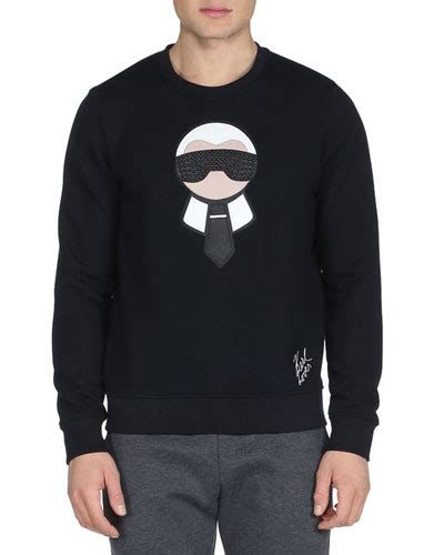 Karlito Top Bhn Jersey Fit L fendi karlito embellished sweatshirt with wool and cotton in black modesens