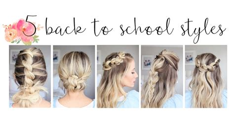 easy hairstyles for school and work 5 easy back to school hairstyles hairstyles