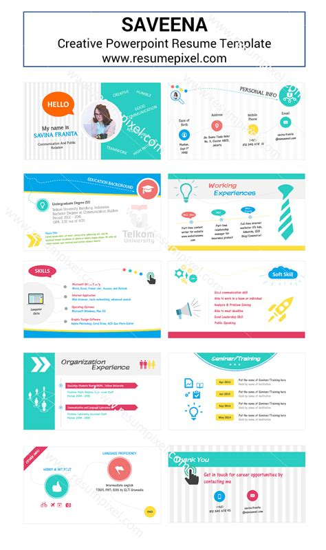 Saveena Powerpoint Cv Template Resumepixel Powerpoint Resume Templates
