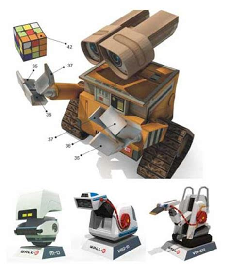 Wall E Papercraft - arts and spacecrafts wall e papercrafts
