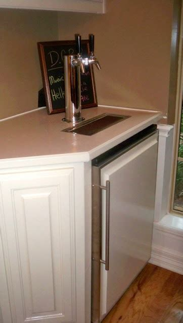 built in kegerator kegerator kitchen remodel ideas pinterest built ins