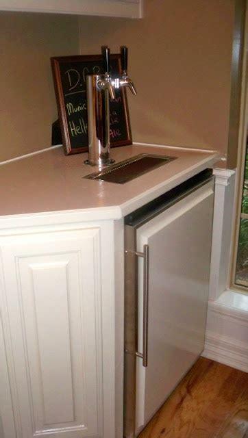 built in kegerator kegerator kitchen remodel ideas pinterest built ins
