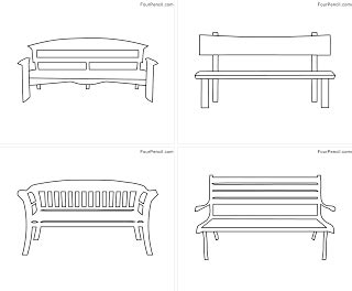 bench outline free printable bench coloring pages for kids fourcoloring