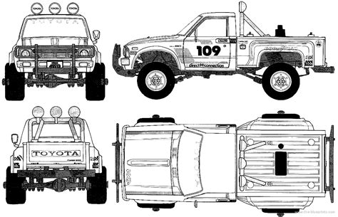 4x4 Sketches by Toyota Truck Drawings Sketch Coloring Page