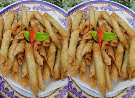 abon gulung kulit pangsit praktis resep kuliner nusantara