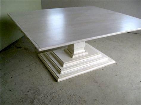 White Pedestal Table Base Farmhouse Tables