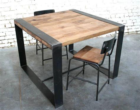Table Metal Et Bois by Table En Bois Et Metal Maison Design Wiblia
