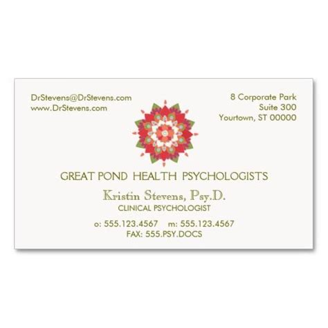 wellness business cards template 17 best images about mental health counselor business