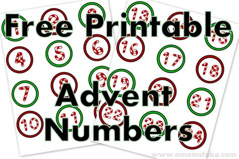 printable homemade advent calendar 8 best images of christmas numbers printable free