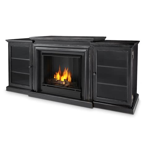 Real Ventless Fireplace by Real Frederick Entertainment Center Ventless Gel Fireplace In Blackwash