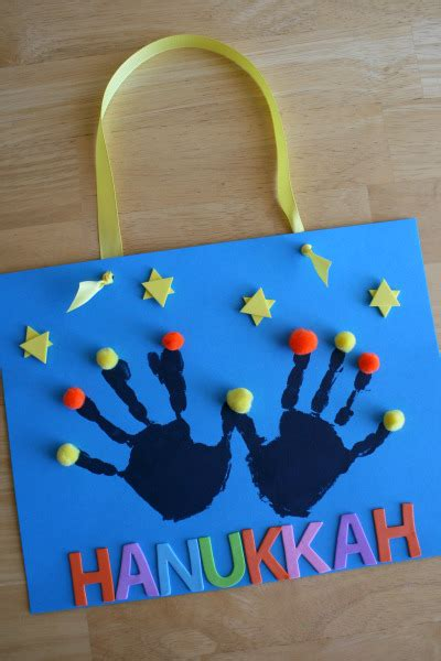 hanukkah craft projects handprint menorah to celebrate hanukkah alpha