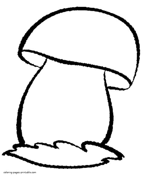 simple nature coloring pages colouring sheets for kindergarten simple mushroom