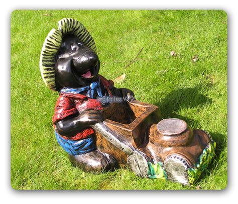 garten deko maulwurf maulwurf mit rasenm 196 dekofigur figur lustig garten ebay