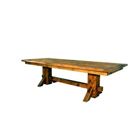 large rustic reclaimed wood double trestle pedestal dining rustic reclaimed barn wood double pedestal dining table