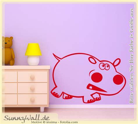 Wandtattoo Kinderzimmer Nilpferd wandtattoo nilpferd flusspferd kinder sunnywall shop