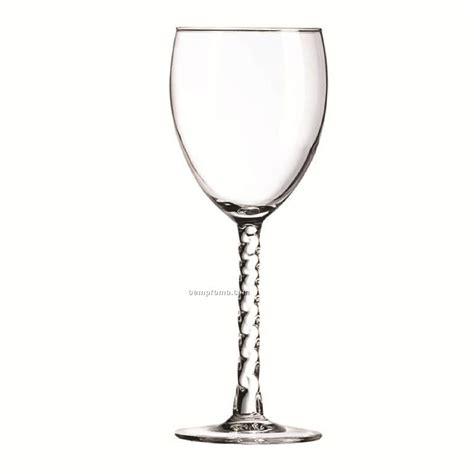 Blank Wine Glasses 8 5 Oz Arc Angelique Wine Glass With Spiral Stem Blank
