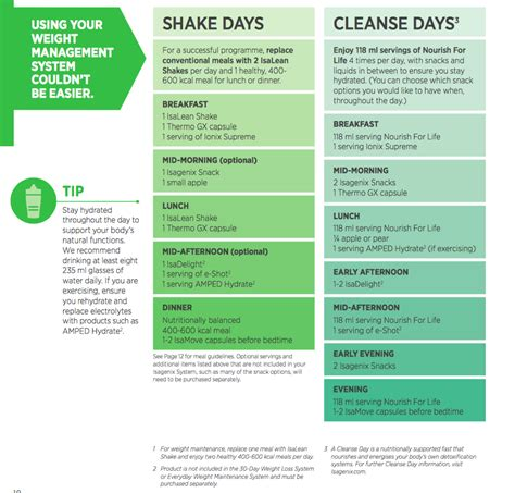 Clean Detox Program 30 Day Meal Plan by Weight Management Program Isagenix Where To Buy And Prices