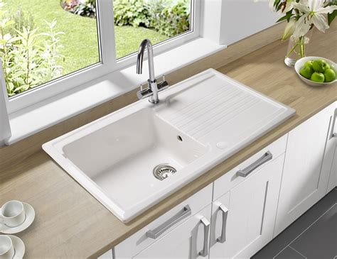 Photos Of Kitchen Sinks Astracast Equinox 1 0 Bowl Ceramic Inset Kitchen Sink Eq10whhomesk