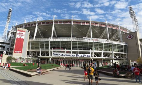 great american ballpark map great american park cincinnati reds stadium