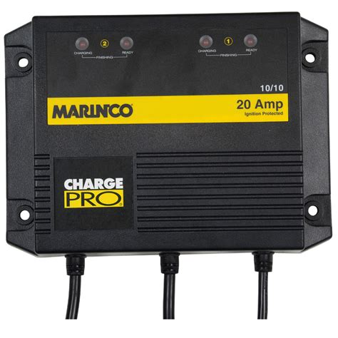 marine battery charger 2 bank 20 marinco marinco on board battery charger 20a 2 bank