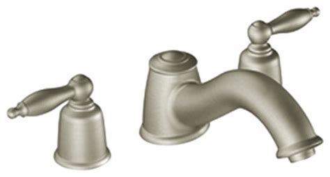 moen t6985bn castleby brushed nickel two handle tub