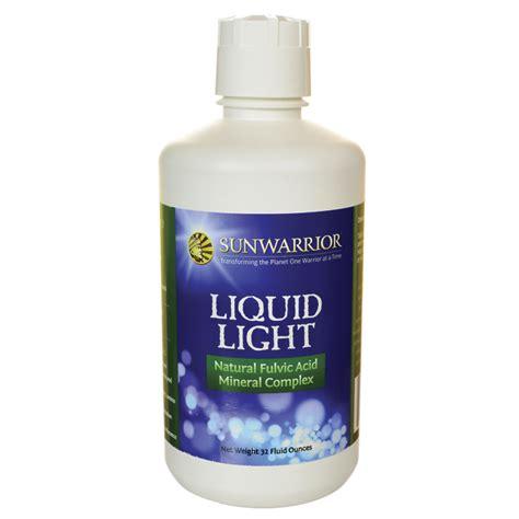 sunwarrior liquid light natural fulvic acid mineral complex 32 oz sunwarrior liquid light natural fulvic acid mineral