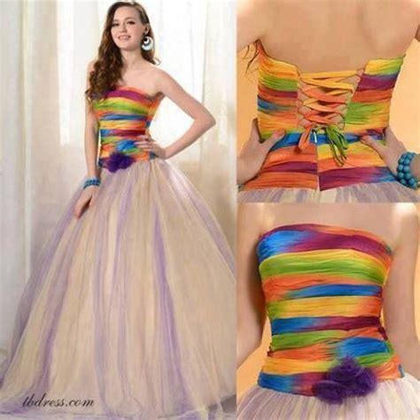 rainbow colored dresses best 25 rainbow wedding dress ideas on pastel