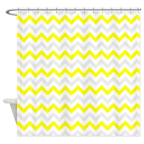 yellow and gray chevron shower curtain yellow and grey chevron shower curtain by inspirationzstore