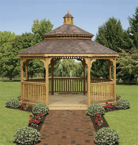 Cottage Plans With Garage by Wood Octagonal Gazebos North Country Shedsnorth Country