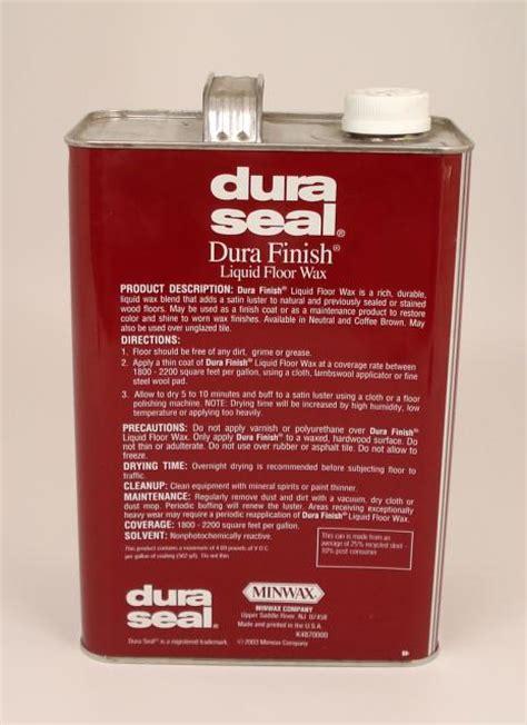dura seal durafinish liquid wax for hardwood floors