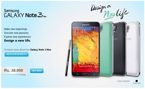 samsung galaxy note 3 neo samsung galaxy note 3 neo now available in india at rs 38 990 631 457