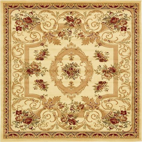 Large Square Area Rugs Large Area Rug Square Traditional Country Carpet Medallion Small Ebay
