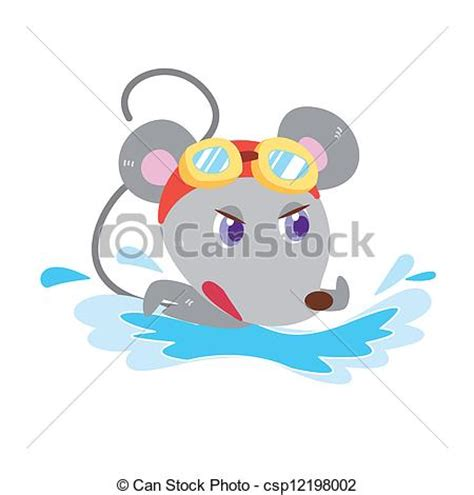 swimming illustrations and clipart can stock photo vector clipart of a mouse s beach activities a cute