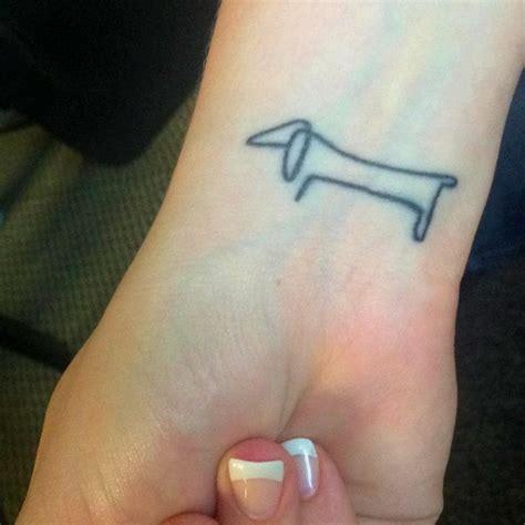 Weiner Dog Tattoo   picasso s wiener dog tattoo love pinterest