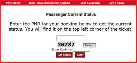 find passengers name of a ticket from pnr number www irctc co in check pnr status online train ticket bookings