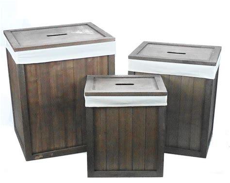 Bathroom Laundry Storage Details About Brown Wooden Lidded Linned Bedroom Bathroom